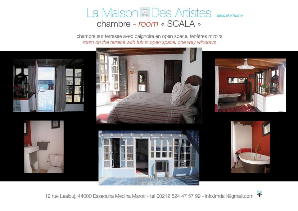 maison d hotes la maison des artistes essaouira. Black Bedroom Furniture Sets. Home Design Ideas